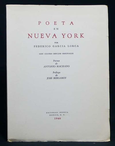 Mexico, D. F.: Editorial Seneca, 1940, 1940. First illustrated edition and the first edition in Span...