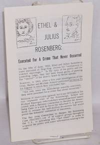 image of Ethel and Julius Rosenberg: executed for a crime that never occurred