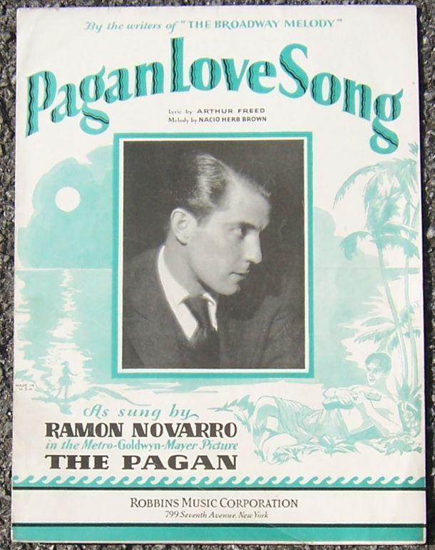 PAGAN LOVE SONG, Sheet Music