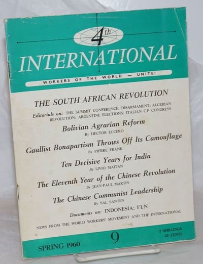 Rome: International Executive Committee of the Fourth International, 1960. Magazine. One issue, 7.5x...