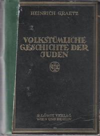 Volkstümliche geschichte der Juden. Zweiter Band. Von der zweimaligen Zerstörung Jerusalems...
