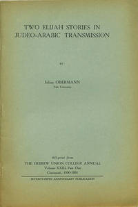 Two Elijah Stories in Judeo-Arabic Transmission