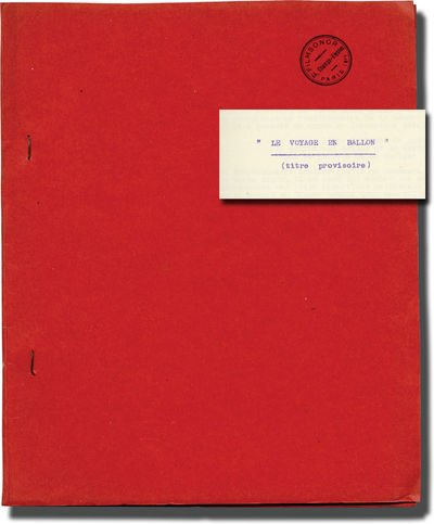 France: Filmsonor, 1958. Draft script and synopsis for the 1960 film, here under the original French...