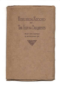 Historical Record of the Felton Bequests from Their Inception to 31st December 1922