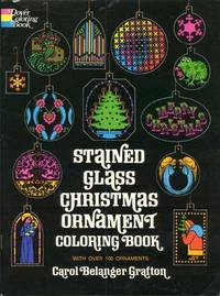 Stained Glass Christmas Ornament Coloring Book, with over 100 ornaments