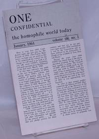 image of One Confidential: the homophile world today vol. 9, #1, January, 1964 [incorrectly states 8:1:64]