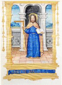 Illuminated Manuscript: Leaf with Miniature of Saint Barnabas