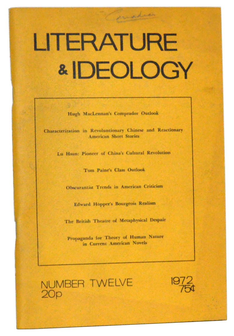 ideologies in literature Ideologies of theory, updated and available for the first time in a single volume, brings together theoretical essays that span fredric jameson's long career as a critic.