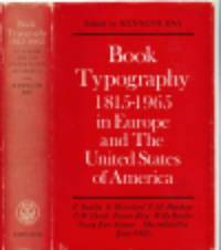 image of BOOK TYPOGRAPHY 1815-1965 In Europe and the United States of America.