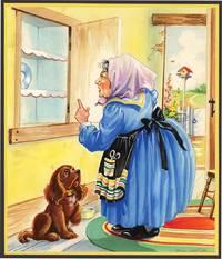 ORIGINAL ART: OLD MOTHER HUBBARD [MOTHER GOOSE]