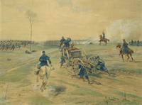 image of Battle scene, Franco-Prussian War, signed at lower right (