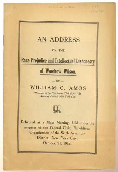 New York City. Very Good. 1912. First Edition. Softcover. Stapled softcovered pamphlet issued withou...
