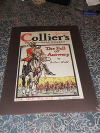 image of Original 1914 Front Cover Collier's Weekly Great War Illustration , Matted  Ready for Framing