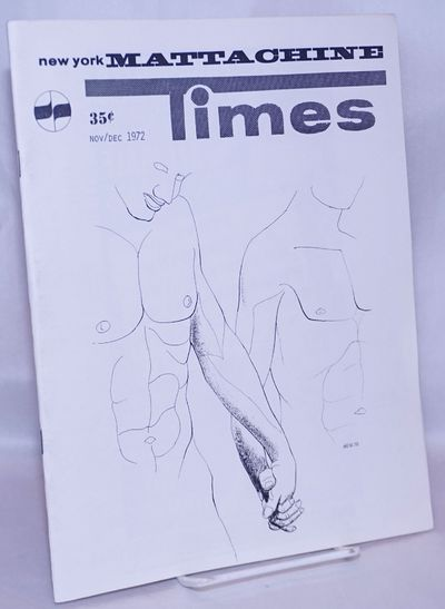 New York: The Mattachine Society, 1972. Magazine. 32p. includes covers, 8.5x11 inches, photos, revie...
