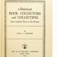 American Book Collectors and Collecting