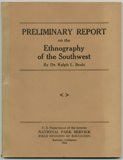 Berkeley: National Park Service Field Division of Education, 1935. Softcover. Fine. First edition. L...