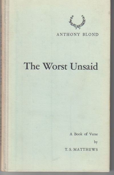 London: Anthony Blond. N.D.. First Edition; First Printing. Hardcover. A fine copy possibly issued w...