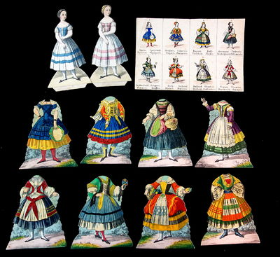 c1840s. A set including two (2) single-sided 6 3/4