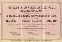 Chicago, Milwaukee and St. Paul Railway. Chicago and Council Bluffs  Division in Iowa Time Table No. 27