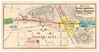 [Caption title]: Map of the Lower Comstock and Emigrant Consolidated Mining Cos. Mines, Lyon Co. Nev