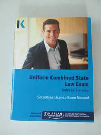 Kaplan Series 66 License Exam Manual 10th Edition and Class Notes Manual, Brand new