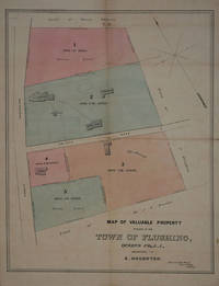 Map of Valuable Property Situate in the Town of Flushing ... Belonging to A. Houghton.  Map by Flushing NY Map - 1865 - from Antipodean Books, Maps & Prints and Biblio.com