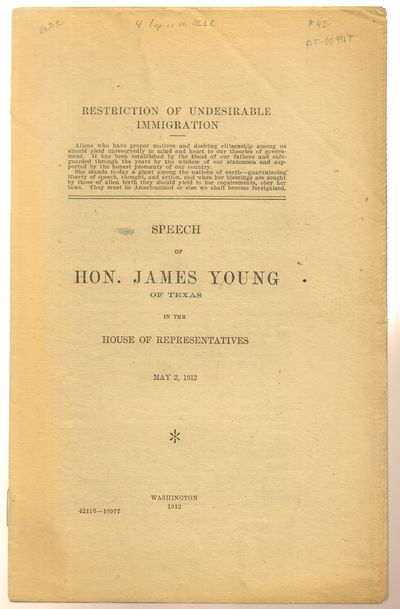 Washington: Government Printing Office. Good. 1912. First Edition. Softcover. Stapled softcover pamp...