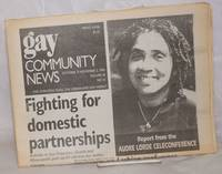 image of GCN: Gay Community News; the weekly for lesbians and gay males; vol. 18, #16, October 27-November 2, 1990: Fighting for domestic partnerships