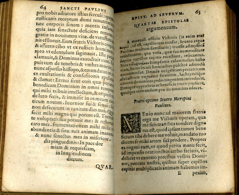 Quotquot extant opera omnia by Paulinus Nolanus ...