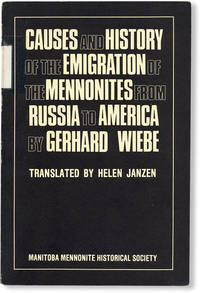 image of Causes and History of the Emigration of the Mennonites from Russia to America