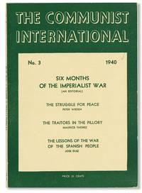 The Communist International, No. 3, March, 1940 by  ed  Earl - Paperback - 1940 - from Lorne Bair Rare Books and Biblio.com
