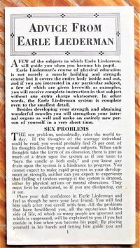 image of Advice from Earle Liederman. Sex Problems . Muscular Development, Jiu Jitsu Etc