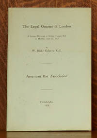 image of THE LEGAL QUARTER OF LONDON, A LECTURE