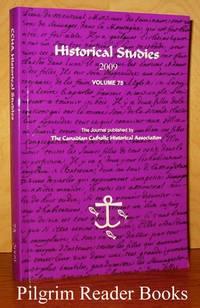 image of The Canadian Catholic Historical Association; Historical Studies  2009. Volume 75