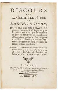 Discours sur la Nécessité de l'Architecture..
