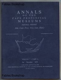 ANNALS OF THE CAPE PROVINCIAL MUSEUMS. Volume 7. Part 2.
