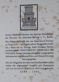 Die Pessach-Haggadah Des Gerschom Kohen Prag 5287/1527 [INCLUDING BOOKLET]