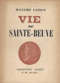 Vie de Sainte-Beuve