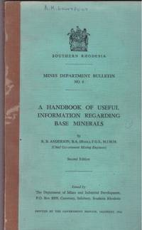 image of A HANDBOOK OF USEFUL INFORMATION REGARDING BASE MINERALS