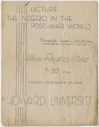 Lecture: The Negro in the Post-War World