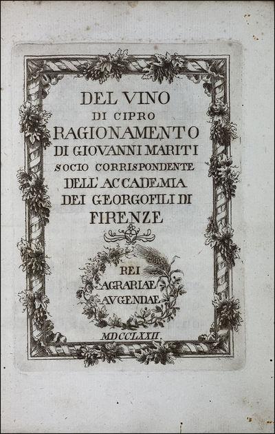 Del vino di Cipro. Firenze, G....