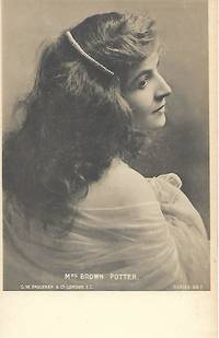 Edwardian Era Stage Actress, Miss Brown POTTER on 1910s Real Photo Postcard (RPPC)