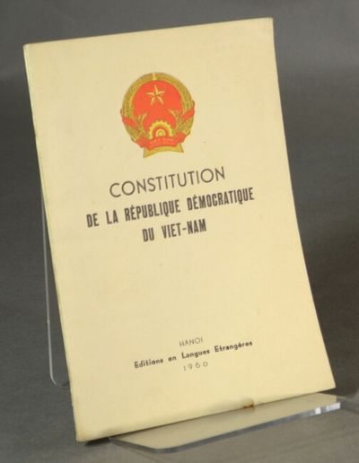 Hanoi: Éditions en langues étrangères, 1960. First edition in French, 16mo, pp. -67; near f...