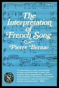 image of THE INTERPRETATION OF FRENCH SONG