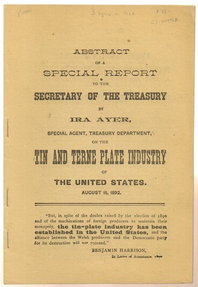 Very Good. 1892. First Edition. Softcover. Stapled softcover pamphlet issued without wraps. Pages to...