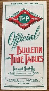 1897 TEXAS PACIFIC RAILROAD TIMETABLE