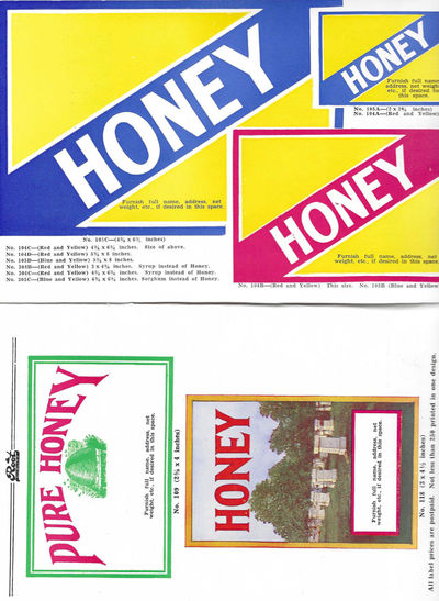 Honey Labels [title from cover]