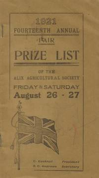 1921 Fourteenth Annual Fair Prize List of the Alix Agricultural Society