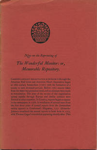 The Wonderful monitor, or, Memorable repository: containing a curious and most astonishing account of the revivication of young Jo. Taylor