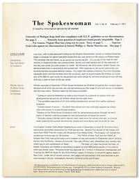 The Spokeswoman: A Monthly Information Service for All Women - Collection of 3 issues